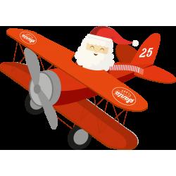 Le Père Noël en Avion